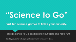 Science to Go sign